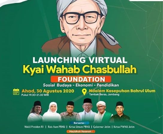 LAUNCHING VIRTUAL Kyai Wahab Chasbullah Foundation : Sosial Budaya - Ekonomi - Pendidikan