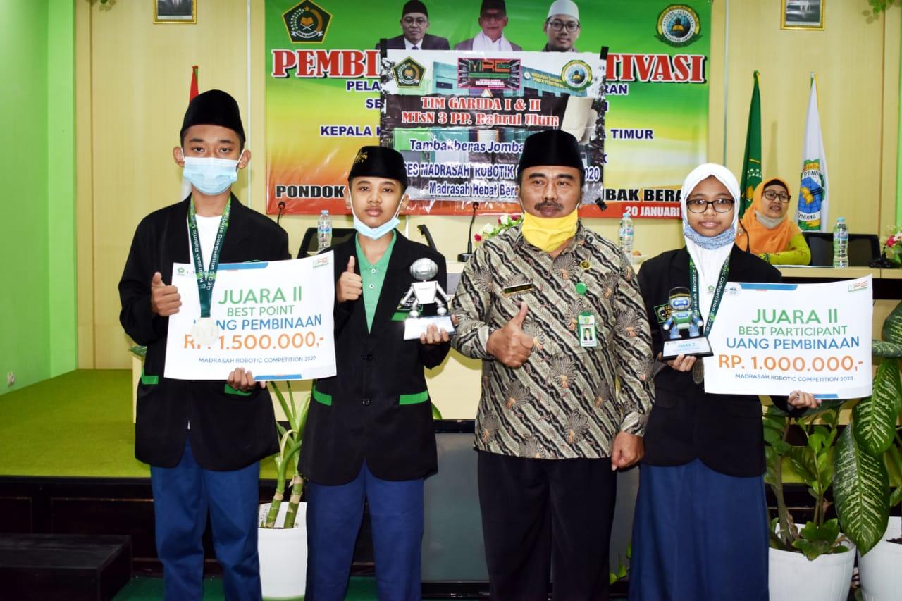 Tim Robotik MTsN 3 Jombang Juara Nasional