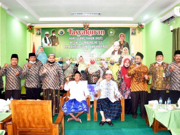 Bupati Jombang Hadiri Milad MTsN 3 Jombang Ke 52 Tahun