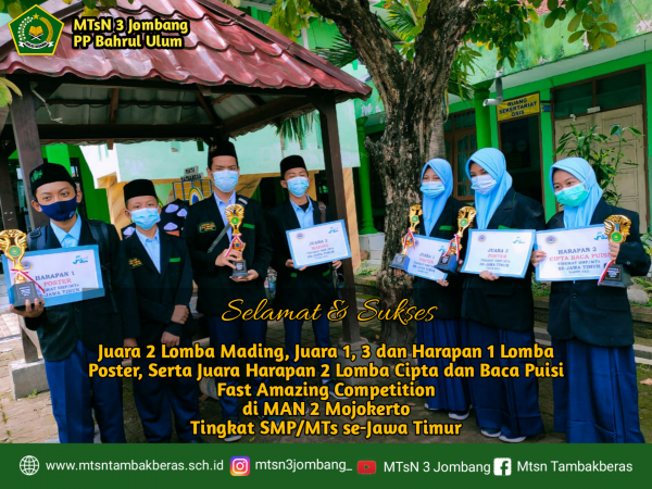 MTsN 3 Jombang Borong Juara dalam Ajang FAC Tingkat Jawa Timur