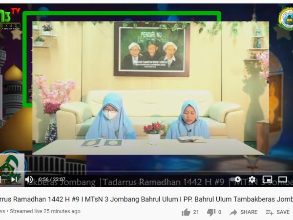 Tadarrus Ramadhan 1442 H MTsN 3 Jombang