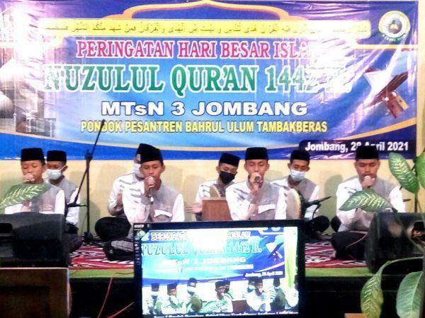 PHBI Nuzulul Qur'an 1442 H MTsN 3 Jombang